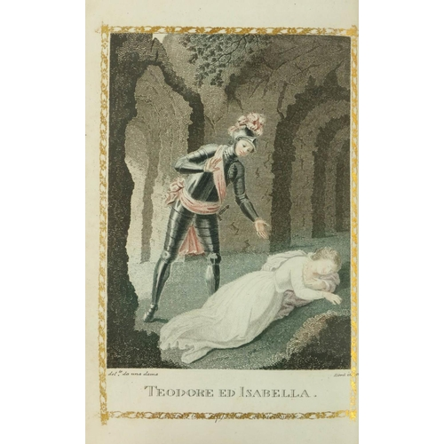 21 - With Hand-Coloured Plates  Binding: [Walpole (Horace)] Castle of Otranto, A Gothic Story, translated...