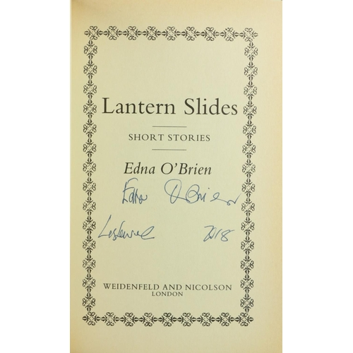 30 - O'Brien (Edna) Lantern Slides - Short Stories, 8vo L. 1990, First, Signed and dated on t.p., cloth &...