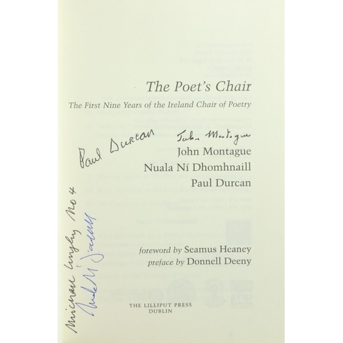 39 - Signed by the Poets  Montague (John), Ní Dhomhaill (N.), Durcan (Paul)contrib. The Poet's Chair, The...