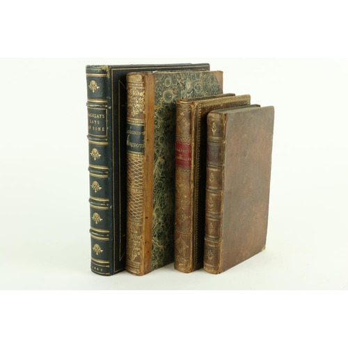50 - Macaulay (Lord) Lays of Ancient Rome, 4to L. 1883, illus., a.e.g. full toold gilt blue mor. by Sothe...