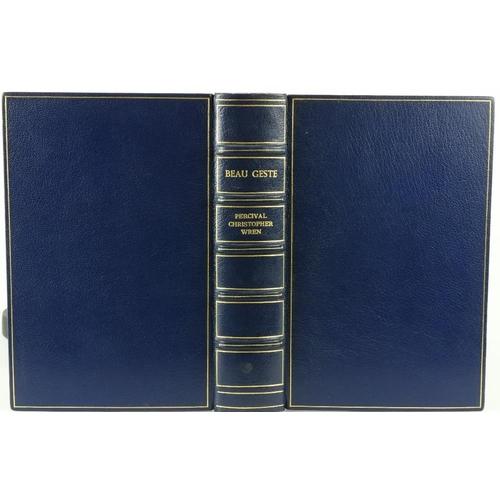 52 - Limited Edition  Asprey Binding: Wren (Percival Christopher) Beau Geste, 8vo L. 1927. Limited Editio...