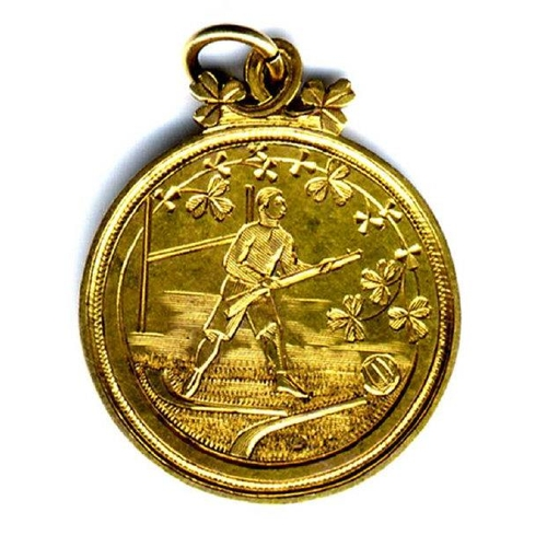 521 - Bloody Sunday First Anniversary Tournament Excessively Rare Gold Medal  G.A.A. Football: A magnifice...
