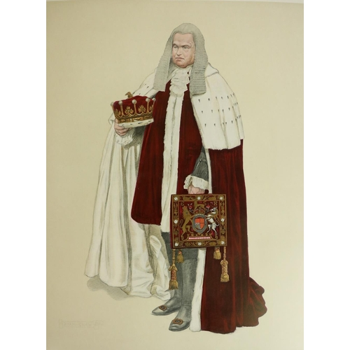786 - With Very Large Coloured Plates  Burke (H. Farnham) The Historical Record of the Coronation of their...