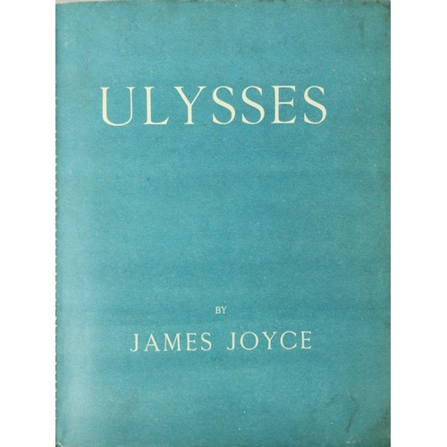 917 - The Masterpiece of Modernism Joyce (James) Ulysses, 4to Paris (Shakespeare & Co.) 1922, First Ed...