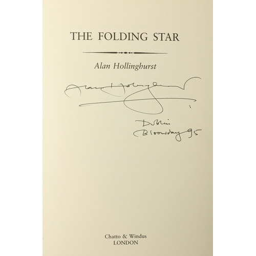 26 - Hollinghurst (Alan) The Falling Star, thick 8vo, L. (Catto & Windus) 1994, Signed on tp., cloth & d....
