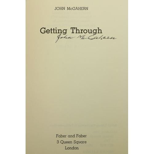 29 - Signed by the Author  McGahern (John) Getting Through, 8vo, L. (Faber & Faber) 1978, First, Signed o...