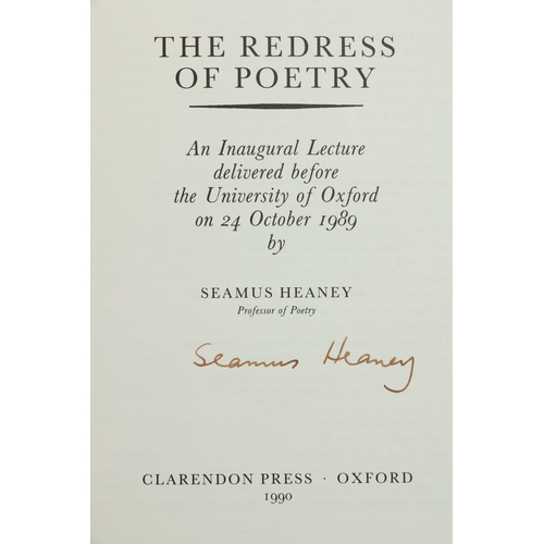 32 - Heaney (Seamus) The Redress of Poetry - An Inaugural Lecture delivered before the University of Oxfo...