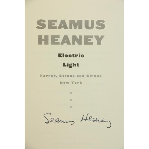 36 - Heaney (Seamus) Electric Light, 8vo N.Y. (Farrar, Straus, & Giroux) 2001, First American Edn., Signe...