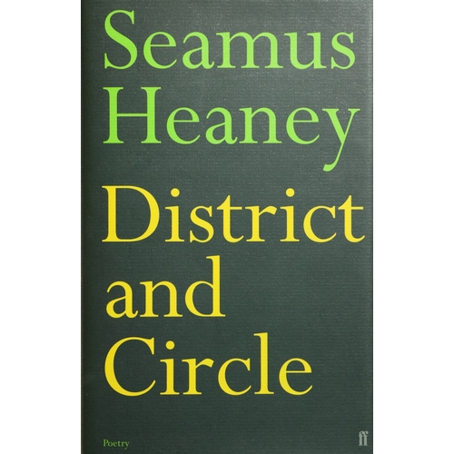 37 - Heaney (Seamus) District and Circle, 8vo L. (Faber & Faber) 2006, Signed, green boards, d.j. Clean C...