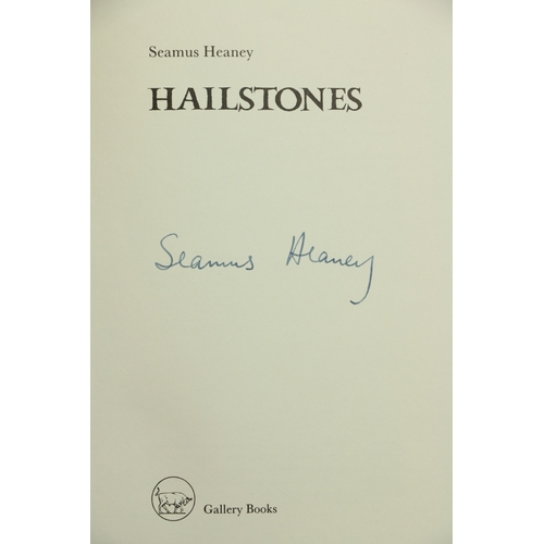 38 - Signed by Heaney  Heaney (Seamus) Hailstones, 8vo D. (The Gallery Press) 1984, Signed Limited Editio...