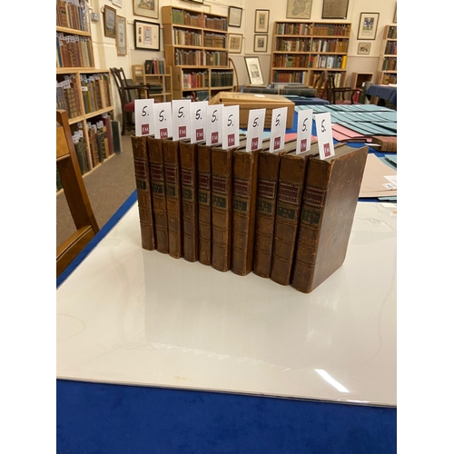 5 - Shakespeare: [Johnson (Ben)] The Plays of William Shakespeare, 10 vols. 12mo Dublin (for A. Leathley...