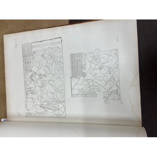785 - With Full Compliment of Hand Coloured & Other Plates  Rosellini (Ippolito) I Monumenti dell Egitto e...