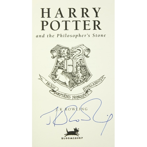 160 - Signed Deluxe First Edition by J.K. RowlingRowling (J.K.)Harry Potter and the Philosophers Stone, 8...