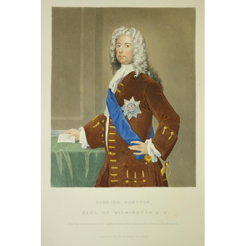337 - With Fine Hand Coloured Plates[Drummond] Pickering (Wm.) publisher.Histories of Noble British Famil...