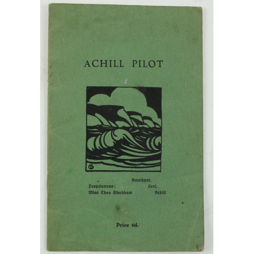 341 - Co. Mayo: Three Candles Press -Achill Pilot, 12mo, n.d. c. 1930, 14pp décor. ptd. wrappers. Interes...