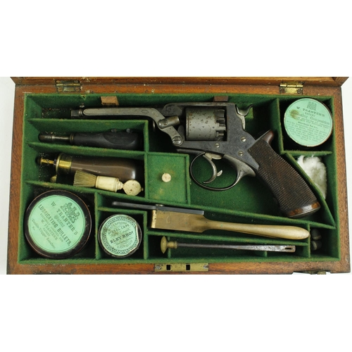 499 - <strong>An important and rare 19th Century Irish six shooter cased Hand Gun,</strong> by Trulock &am...