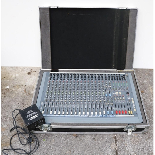 19 - A Soundcraft Spirit Live 4 - 16 Track Mixer in flight case with power supply.This is a sound mixing ...