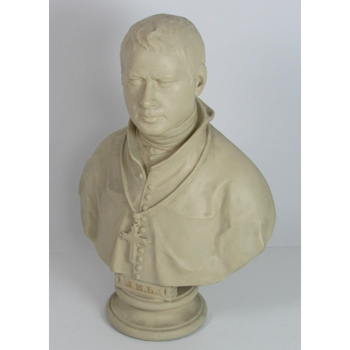 "A large chalk ""Bust of J.K.L."" [Most Rev. Dr. James Doyle, Bishop of Kildare and Leighlin,] on a circular base, approx. 76cms (30"") high. (1)"
