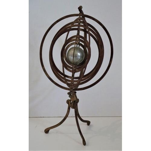39 - <strong>A modern brass Armillary Desk Globe,</strong>on tripod base, approx. 53cms (21