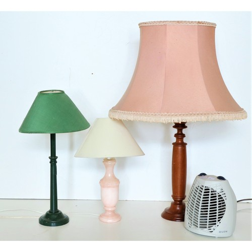 4 - <strong>Three assorted </strong><strong>electric</strong><strong>Table Lamps,</strong> and an elect...