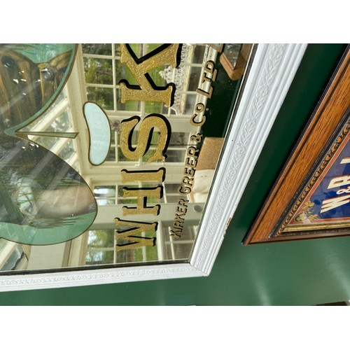 16 - A rare and original Advertising Mirror,
