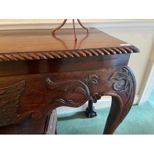 40 - <strong>A good quality 19th Century Irish mahogany Side Table,</strong> the plain top with gadroon e...