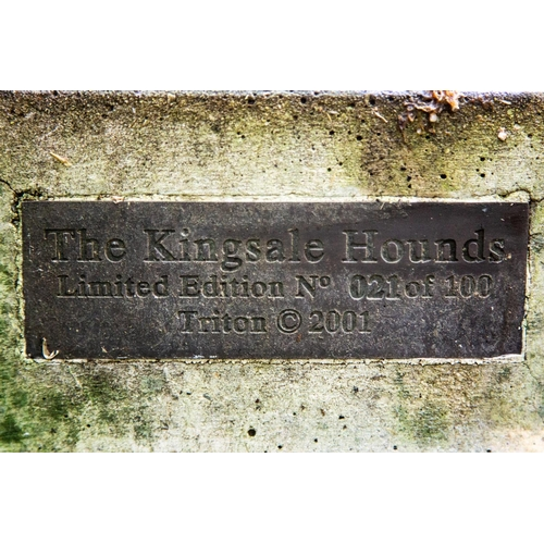 114 - The Kingsale Hounds. A massive pair of recumbent Great Danes, a Limited Edition No. 021 of 100 produ...