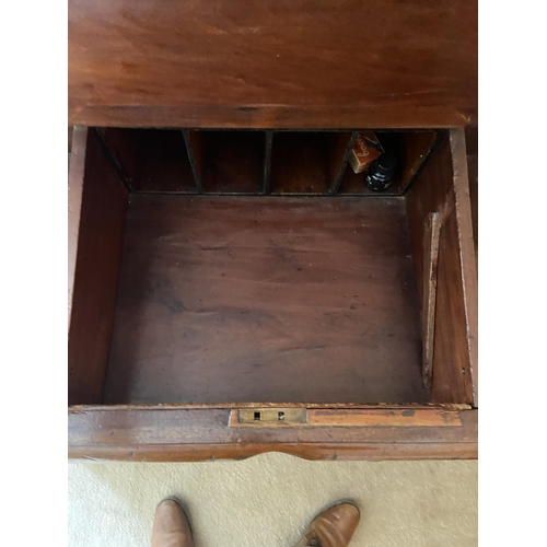 22 - A Victorian mahogany pedestal Desk, the hinged slope top flanked to either side with a bank of four ...