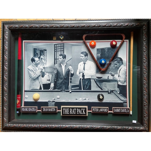 242 - A rare Limited Edition framed ''Rat Pack'' Billiard Room Display, No. 12504 from Millionaire Gallery...