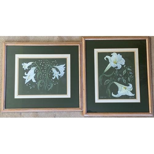 29 - Modern Irish School Watercolour, Still Life, ''Lilies'' and its companion, 12'' x 9 1/2'' (30cms x 2...