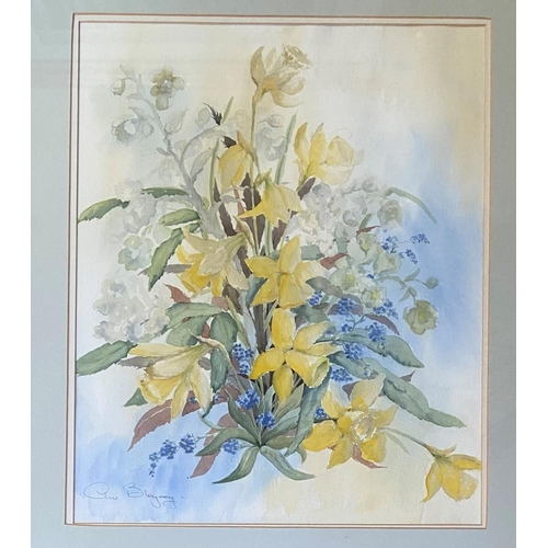30 - Anne Blayney- 20th CenturyWatercolour, ''Spring Flowers,'' signed and inscribed, 21'' x 18'' (53cms ...