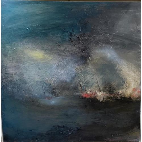 31 - Gemma Billington 21st Century''Reaching the Big Rock,'' O.O.C., 38'' (96cms) square, signed and insc...