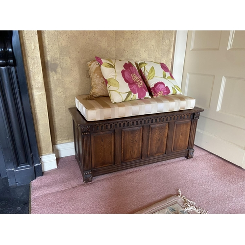 59 - Withdrawn...A shell back carved walnut Settee, with scroll sides and cushion seat raised on four sha...