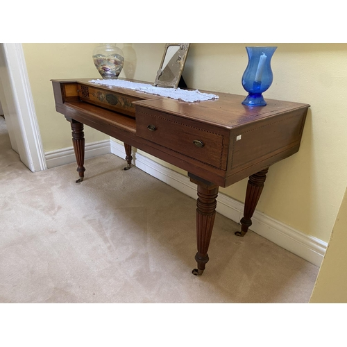 8 - A Regency period Spinet, adopted with the label of Maslerman & Co., London, now with one long an...