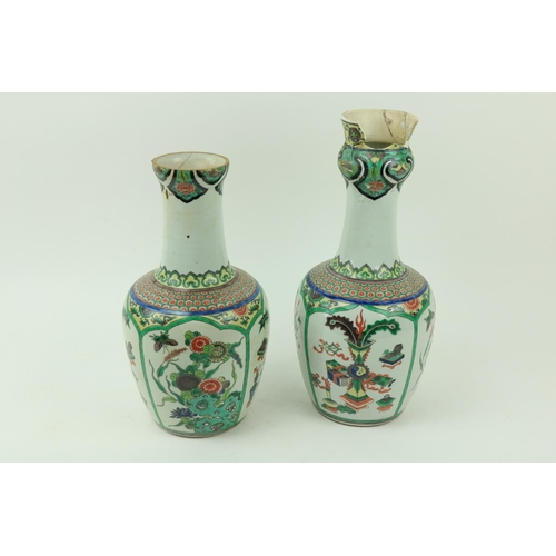 20 - A pair of Chinese Famille Verte