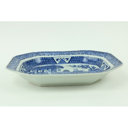 5 - A fine quality blue and white Chinese Xiangshiperiod porcelain Serving Dish, of rectangular form wi...