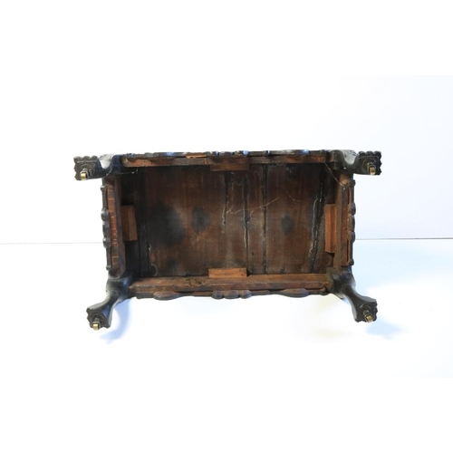 392 - An important fine mid-18th Century IrishmahoganyDecanter Stand, with arched saw cut centre handle ...