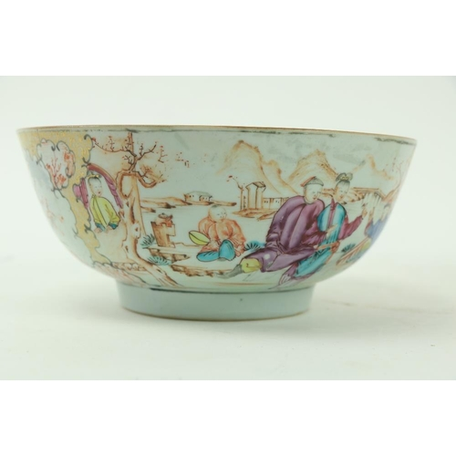 49 - An early 19th Century Chinese Famille Rose Bowl, decorated with figures merrymaking, approx. 20cms (...