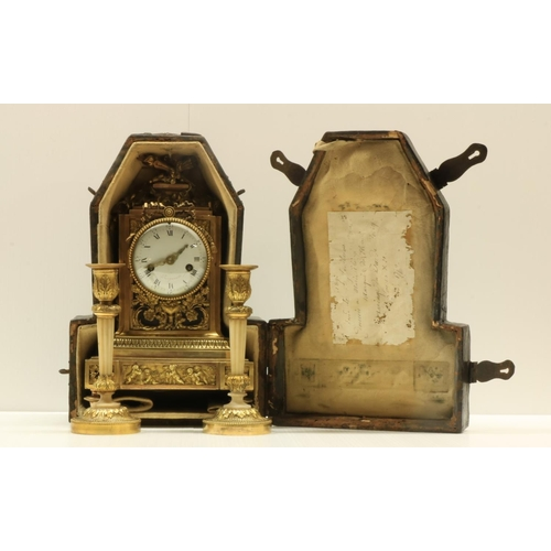 445 - Special Gift from Marie Antoinette'Pendule et Flambeaux'An extremely important exquisite Louis XVI ...