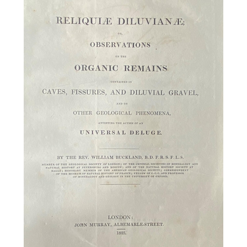 12 - Presentation Copy from AuthorBuckland (Rev. Wm.)Reliquiae Diluvianae; or, Observations on the Orga...