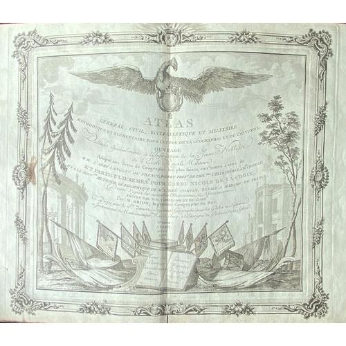 13 - Atlas: Brion (M.)Atlas General, Civil, Ecclesiastique et Militaire ... Desine Specialement a l'Inst...