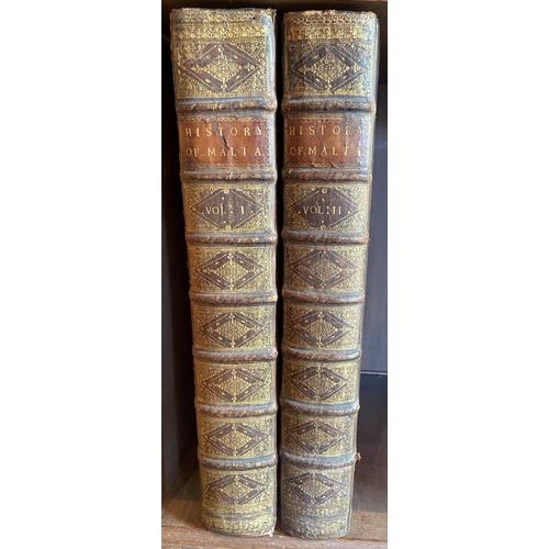21 - Large Paper CopyVertot (Mons. Abbé de,)The History of the Knights of Malta, 2 vols. large folio L. ...