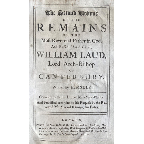 27 - Laud -The History of the Troubles and Tryal of ... William Laud, Lord Arch-Bishop of Canterbury, 2 ...