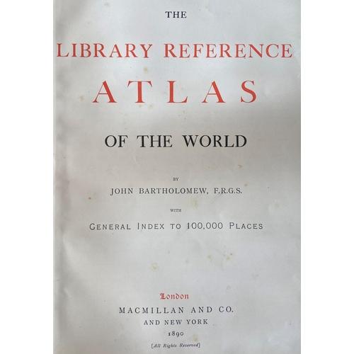 28 - Atlas: Bartholomew (John)The Library Atlas of theWorld, V. lg. folio L. (Macmillan...