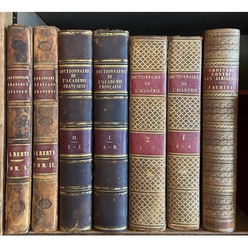 3 - French Academy -Dioctionnaire de l'Adademie Francoise, 2 vols. 4to Paris 1825. Fifth Edn., hf. tit...