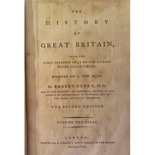 43 - Bindings:Henry (Rob.)The History of Great Britain, 12 vols. 8vo L. 1788 - 1799.Second & Thir...