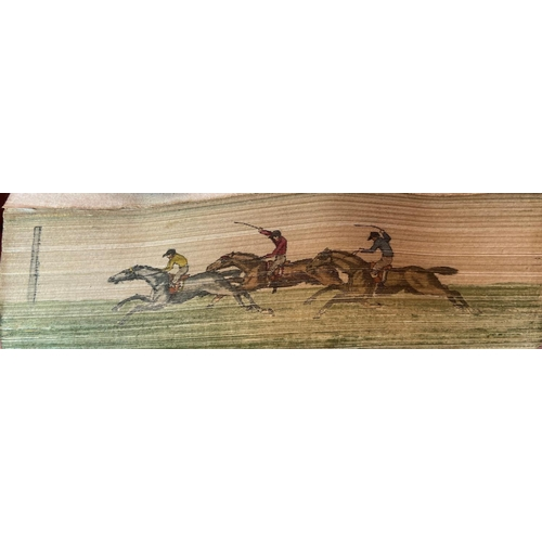 49 - With Extremely Fine Fore-edge PaintingBinding:[Nimrod] -Songs of the Chase, etc., Containing An E...