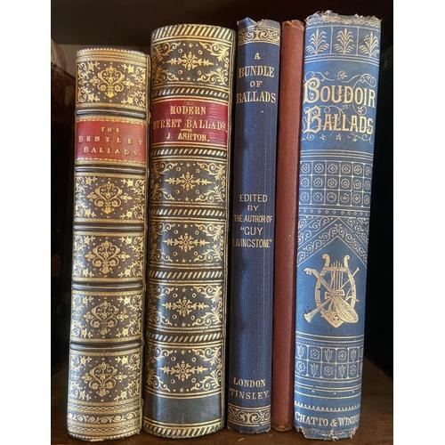 50 - Ballads: [Lawrence (G.A.)]A Bundle of Ballads, 8vo L. 1864, gilt cloth;Head (Rt. Hon. Sir Ed.)Ba...