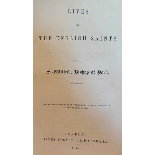 56 - Religious interest: [Newman (J.H. Saint)] & othersLives of The English Saints, by various autho...