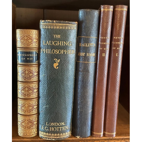 57 - Kett (Rev. H.)The Flowers of Wit, or A Choice Collectionof Bon Mots,.. 2 vols. 12mo L. 1814. Hf. t...